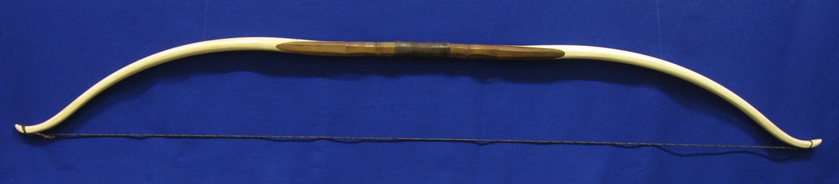 Rattan Recurve Bow with a Walnut Handle